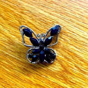 Butterfly 🦋 Broach w/Black Gemstone's Brand New